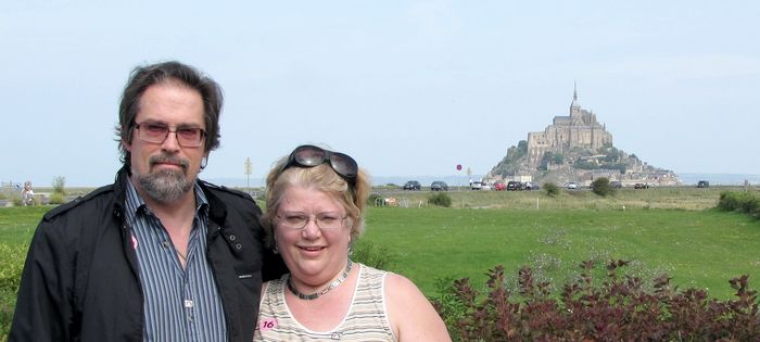Mike and El at Mont St Michel